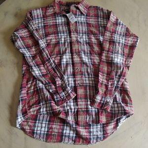 Mens Vintage Van Heusen Button Up Flannel